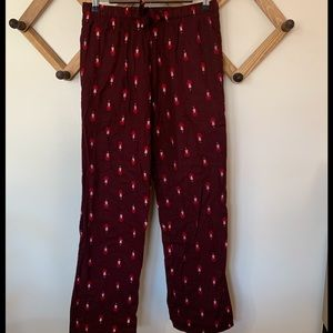 Old Navy Flannel Santa's Small Pajamas Buttons